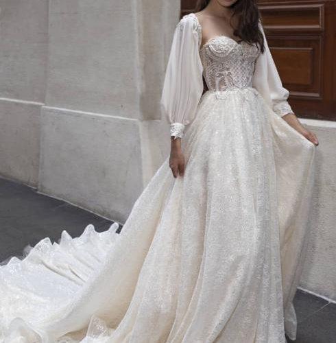土耳其奢華婚紗禮服Dovita,高級定制線條流暢,設計靈動優雅
