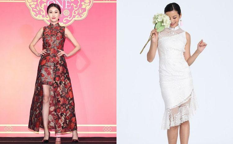 新潮旗袍推介!新娘穿上中式晚裝襯金器也可以很時尚